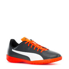 PUMA SPIRIT IT INDOOR SOCCER SPORTS SNEAKERS MEN SHOES BLACK/ORAGE SIZE 8 NEW