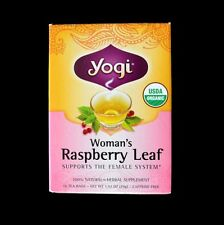 CERTIFIED ORGANIC YOGI TEA RASPBERRY LEAF FOR FEMALE SYSTEM / PREGNANCY 16 BAGS