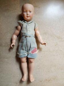 Marianne De Nunez Porcelain Head Boy Doll in Homemade Outfit w Muscle Body 1978