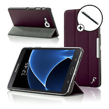 Leather Purple Folding Smart Case Samsung Galaxy Tab A 7.0 SM-T280 Stylus