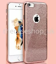 Brillante Silicona Purpurina antichoque Funda carcasa para iPhone de Apple 7 6