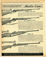 1957 Print Ad of Marlin Model 336-A 455 & 322 Varmint Rifle