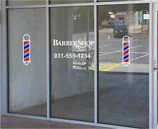 Barber Shop & Barber Poles Business Vinyl Decal Sticker Window Lettering