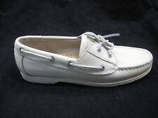 Rockport 10M beige off white boat deck shoes womens ladies flats loafers 5121