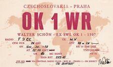 Q40 Carte QSL Radio Amateur Opérateur OK1WR de Walter SCHON   TCHECOSLOVAQUIE