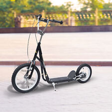 "Adjustable Teen Kick Scooter Pro Stunt Scooter Street Bike 16"" Tire Black"