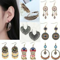 Women Boho Vintage Ethnic Drop Dangle Earrings Charm Wedding Party Jewellery
