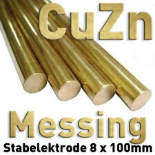 Messing Ms 58 CuZn Rund Stab Anode 100 x ⌀8 mm Galvanik Elektrolyse Metall Brass