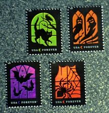 2019USA Forever Spooky Silhouettes - Set of 4 Singles  Mint  halloween