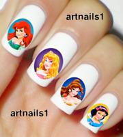Disney Princess Nail Art Water Decals Stickers Manicure Salon Mani Polish Gift