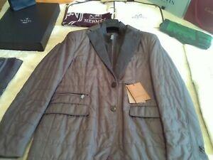 NWT £1015 Corneliani LK Kiton Cucinelli grey padded shell blazer UK 46 EU 56