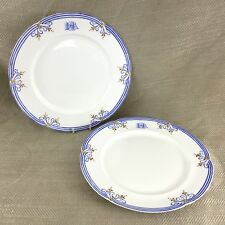 Antique Early Coalport Dinner Plates Rare English Porcelain Monogrammed China