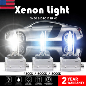 Set(2) D1S 4300K 6000K 8000K Ice Blue HID Xenon Headlight OEM Replacement Bulbs