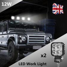 2PCS 12W LED Work Light Bar Flood Spot Lights Driving Lamp Offroad Car Truck SUV