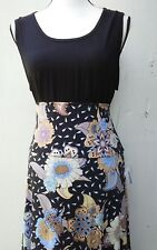 LULAROE   SIZE X LARGE BLACK TANK TOP WITH MATCHING XL FLORAL MAXI