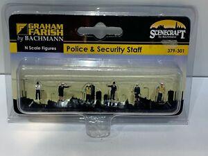 GRAHAM FARISH N GAUGE SCENECRAFT 379-301 POLICE & SECURITY STAFF
