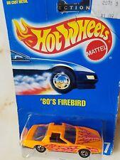 Hotwheels 80's Pontiac Firebird Trans Am Orange with Pink Lightning Bolts w Ttop