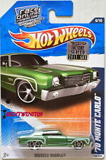 HOT WHEELS 2011 MUSCLE MANIA '70 MONTE CARLO GREEN FACTORY SEALED