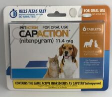 PetAction CapAction for Dogs/Cats 2-25lbs Flea Treat(compare to Capstar)6Tablets