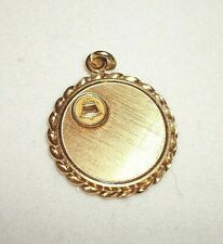 VINTAGE PENDANT TELECOM TELEPHONE SIGNED 1/10 10K GOLD FILLED  COMPANY CHARM