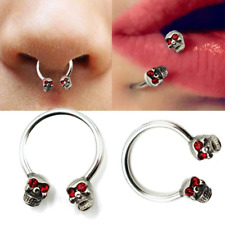 Punk Skull Tongue Rings Piercing Earring Stud Stainless Steel Piercing Jewelry