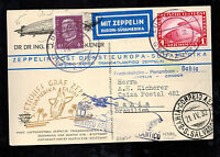 1932 Germany Graf Zeppelin RPPC Dr Eckener Postcard Cover to Bahia Brazil