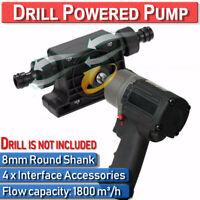 Electric Powered Drill Pump  Water Oil Liquid Fuel Transfer Heavy Duty