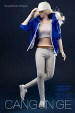"12"" figura 1/6 Tbleague cuerpo femenino para Mujeres Chaqueta Blanco Chaleco Ropa Sportswear"