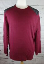 NEW Alfani Men's Space-Dyed Long-Sleeve T-Shirt Hazy Fire Red Large MSRP $40.00