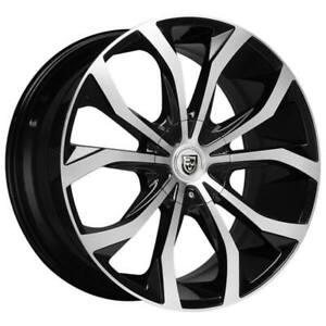"4ea 20"" Lexani Wheels Lust Black Machined Rims (S42)"