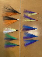 Bucktail River Streamer Flies- Hand Tied - Walleye, White Bass, Salmon (5)