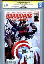 Guardians of the Galaxy Vol 2 2 CGC 9.8 SS X3 Stan Lee Pelletier Groot Rocket