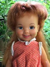 """1972 Cinnamon Velvet's Little Sister Crissy Doll Family Grow Hair 12"""" Ideal Toy"""