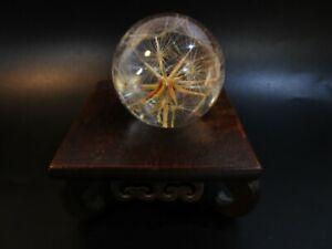 Vintage Haford Grange Thistle Head Dandelion Paperweight Made Of Resin Acrlic