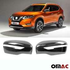 Fits Nissan Rogue 2014-2020 Dark Chrome Side Mirror Cover Cap 2 Pcs
