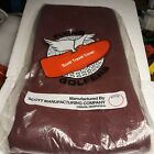 Flying Golfers Scott Travel Cover.Golf club cover made of canvas maroon in color