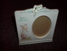 Precious Moments picture frame 2001 girl with goose says make a joyful noise