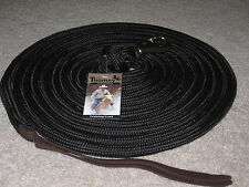 Thomey 23 Ft. Natural Horse Training Lead Rope Long Line ~ Black