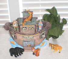~~LARGE DETAILED NOAHS ARK WITH ANIMALS ~ IMMEDIATE SHIPPING!
