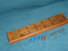 """WOODEN CRIBAGE BOARD 11-3/4"""" LONG WITH SOME PINS"""