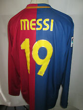 Barcelona Messi 10 2008-2009 Long Sleeves Home Football Shirt Size XXL /34576