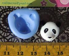 Moule Silicone mini tête panda (Fimo, résine, pâte à sucre,porcelaine froide)