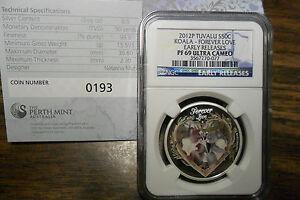 2012-P KOALA FOREVER LOVE 1/2 OZ SILVER PROOF **NGC PF69** BOX & COA#193/7500**