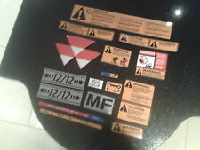 massey ferguson 300 series warning sticker / decal