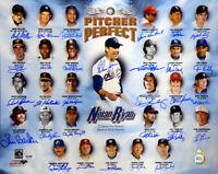 Pitcher Perfect Autographed 16x20 by 30...Nolan Ryan, Tom Seaver, Bob Feller PSA