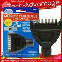 ARK MAGNETIC 7 PIN FLAT BOAT/CARAVAN/MOTORHOME/CAR/LANDCRUISER TRAILER PLUG