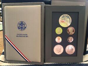 1986 US Mint Prestige PROOF set Liberty Silver Dollar (7 Proof Coins) Beautiful