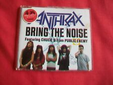 ANTHRAX - BRING THE NOISE - 3 TRACK CD FEAT. CHUCK D FROM PUBLIC ENEMY -1991