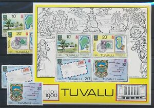 LN89095 Tuvalu 1980 London stamp expo good sheet MNH