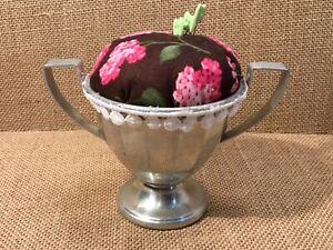 Vintage Silver-Sugar Bowl Repurposed & Upcycled into Pin Cushion ~ Handmade